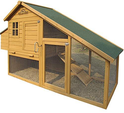 Pets Imperial® - Hühnerstall Sandringham - 223 cm - 4 bis 5 Hühner je nach Größe - innovative Verriegelung