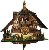 Kuckucksuhr Quarz-Uhrwerk Chalet-Stil 50cm von Engstler