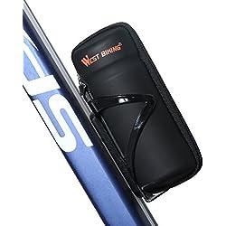 West Biking Zip Case Werkzeugtasche für Wasser Flasche Käfig Schwarz, Kinder Herren damen, Black StyleB