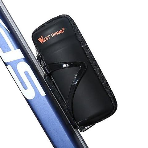 West Biking étui à fermeture Éclair Outil Sac pour bouteille d'eau Cage Noir - Black StyleB