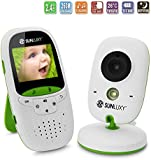 SUNLUXY 2.0 inch Color LCD Wireless Digital Audio Video Baby Monitor Security Camera Two Way Talk Night Vision