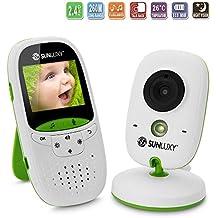 Vigilabebes Video con Pantalla LCD Camara para Vigilar al bebe Baby Monitor Wifi Comunicacion Bidireccional Vision Nocturna Canciones de Cuna