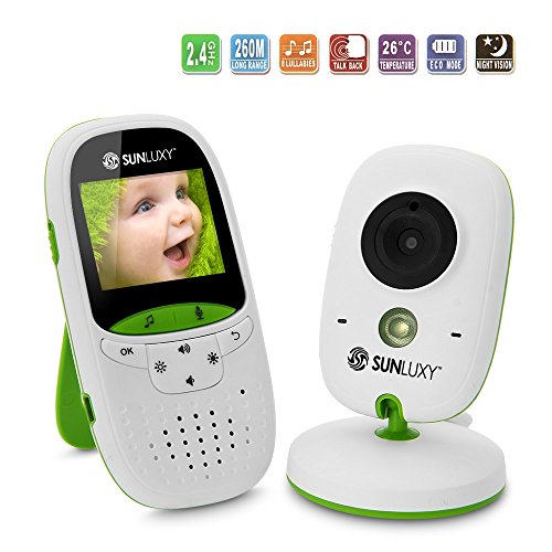 SUNLUXY Wireless Digital Audio Video Baby Monitor Security Camera 51CJWd XGRL