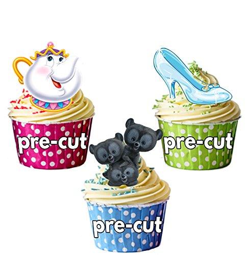 Disney Party Pack, Kuchen Dekorationen-36Essbar Stand-up Cupcake Topper