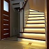 Wokee LED Treppenbeleuchtung Einbauleuchte 100cm 60LED Flurlampe Warmweiß