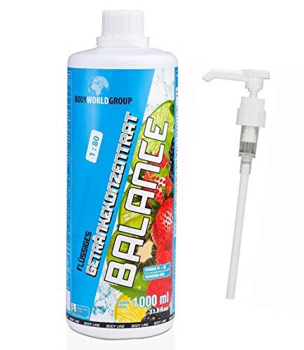 BWG Vitamin & Mineral Getränk, Electrolyte Konzentrat (Multifrucht + Vitamin C), Vegan, (1 x 1000 ml Flasche), Inklusive Dosierspender, 1er Pack (1 x 1 l)