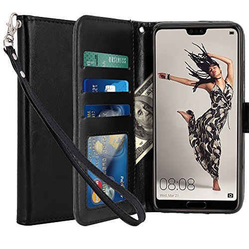 Coque-Huawei-P20-Pro-LK-Housse-Coque-Protecteur-Clapet-Portefeuille-Cuir-PU-Luxe-avec-Fentes-et-Support-de-Carte