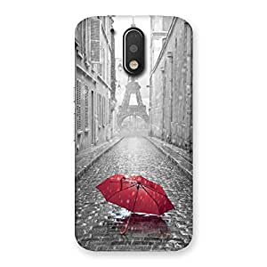 Red Umbrella Back Case Cover for Motorola Moto G4 Plus