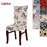Lianle Stuhlhusse Stretch Stuhlhussen für Dining Chair Sitzbezüge Hochzeit Bankette Stuhl-Abdeckung Dekorative Stuhlüberzüge
