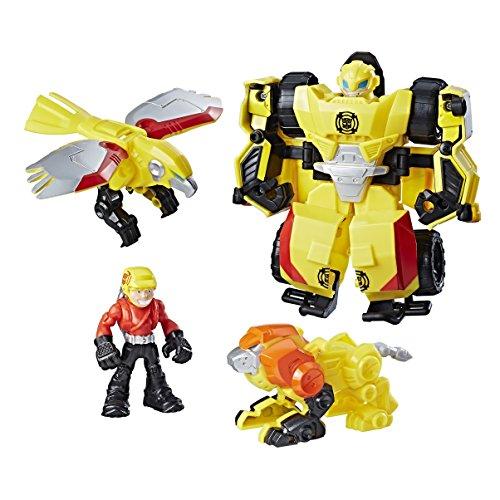 Transformers Playskool Heroes Bumblebee Rock Rescue Team Bots Figure