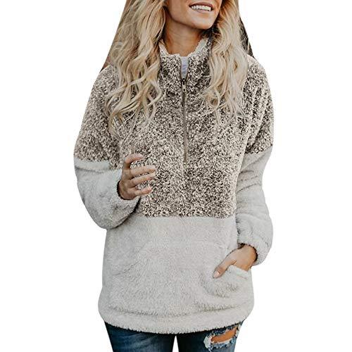 buy popular d9839 825d4 Daunenjacken Plot Damen Gitter Cardigan Asymmetrisch ...