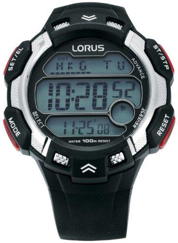 Lorus - R2347CX9 - Montre Garçons - Quartz Digitale - Alarme/Eclairage/Chronomètre - Bracelet Plastique Multicolore