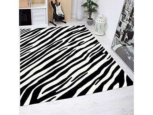 Alfombra Estampado Piel Cebras PVC | 95 cm x 165 cm|