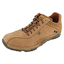 Woodland Mens Leather Casual Shoes Camel Colour Size: 41 EURO