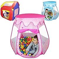 Monsieur Bébé® Tenda gioco per bambini pieghevole + 200 palline e borsa salvaspazio - Tre modelli - Norme CE