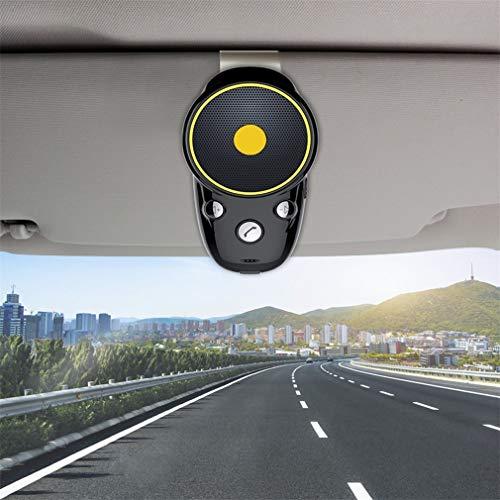 WYFFYFF Kfz Freisprecheinrichtung Bluetooth Freisprechanlage für Freisprech Anrufe, GPS und Musik, Wireless Sonnenblende und Windschutzscheibe Auto Kit -