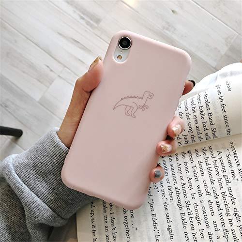 GPPG Apple Handyhülle Anti-Fall iPhone Geeignet Für iPhone Xr Xs X 7 8 Plus Cute Cartoon Lächelndes Gesicht Silikon Schutzhülle Aus Weichem TPU Inklusive Bruchsicherer Hülle,Pink4,IPHONE6/6S (Iphone6 Fällen Bling)
