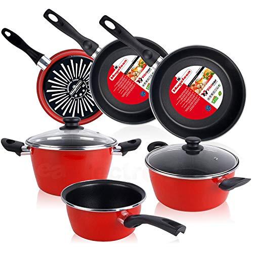 Magefesa Bateria cocina 5 piezas + Set Juego 3 Sartenes