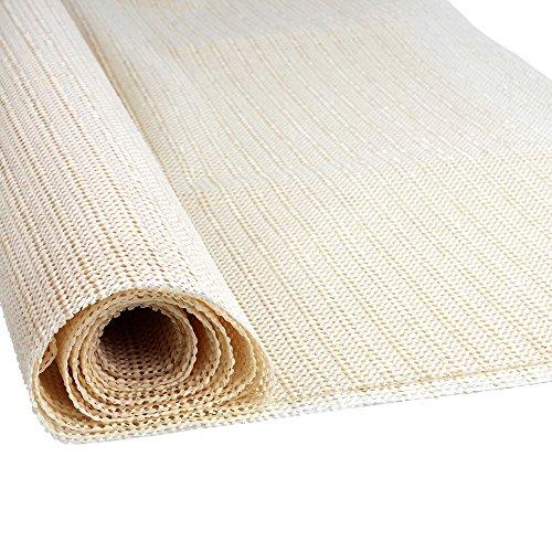 ATPWONZ Bases Antideslizantes para Alfombras - Antideslizante para alfombra se Puede Recortar Ideal para Suelos Lisos Como Parqué,Linóleo, Baldosas (110 x 185cm )