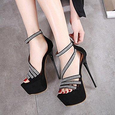 LvYuan Da donna-Sandali-Formale-Altro-A stiletto-Felpato-Nero Black