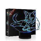 Best Cadeaux Boutique Décorations de Noël - Pet Cat 3D Illusion Illusion Optique Lampe de Review