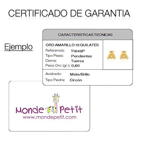 74b50868323d Osita Esmaltada Monde Petit T1854PR - Pendientes de Niña oro 18 kts.