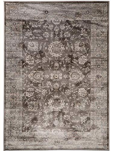 benuta Vintage Teppich im Used-Look Velvet Braun 140x200 cm ...