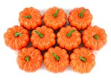 Falso Fruta Casa Casa Cocina Decoración Artificial realista simulación mini calabazas Halloween casa decoration-set de 10 – Naranja