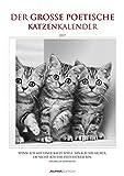 Der poetische Katzenkalender 2017 - Literarischer Bildkalender (24 x 34) - mit Zitaten - schwarz/weiß - Tierkalender 2017