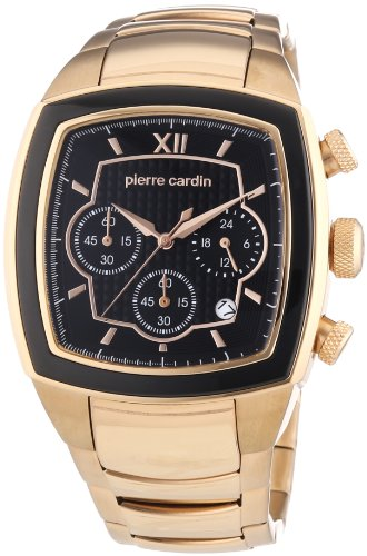 Pierre Cardin Herren-Armbanduhr General Chronograph Quarz Edelstahl beschichtet PC104251F08