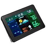 MagiDeal Digital Thermometer Thermo-Hygrometer Digital Hygrometer Uhr Wetterstation - mit 2 Sensoren Drahtlose Farbwetterstation - Wecker Kalender Display Alarm Wettervoraussage Funktion.