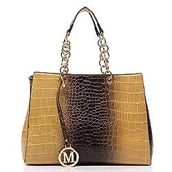 2Chique Boutique Womens Croc Chain Top Handle Tote