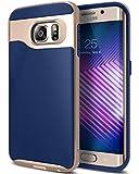 Caseology Galaxy S6 Edge Hülle, [Wavelength Serie] Schlanke Hülle mit Textur Doppelter Schutzschicht Sichere Haftung [Navy Blau - Navy Blue] für Samsung Galaxy S6 Edge (2015)