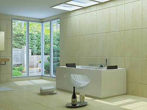 Luxus Whirlpool Badewanne 180×90 in Vollausstattung (Massage) – Sonderaktion