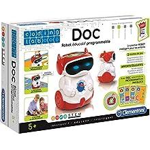 Clementoni- Doc Robot Éducatif Parlant Programmable (Version française), 52252, Multicolore