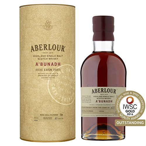 Aberlour A\'Bunadh Highland Single Malt Scotch Whisky - Original Cask Strength Non Chill Filtered Scotch Single Malt Whisky - 1 x 0,7 L