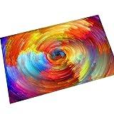 Gnzoe Flanell Teppich Bunt Geometrie Blumen Muster Design Teppiche für Flur Schlafzimmer Bunt 60x40CM