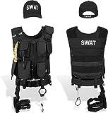 normani SWAT Set mit Weste im Einsatzstyle, SWAT Cap, Handschellen Größe S/Links