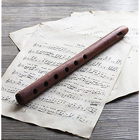 Store Indya, Fatto a mano indiano autentico palissandro flauto con finitura rustica - Palissandro Finitura