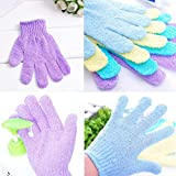 TAOtTAO 5Pcs Shower Gloves Exfoliating Wash Skin Spa Bath Gloves Foam Bath Skid Resistance Body Massage Cleaning Loofah Scrubber