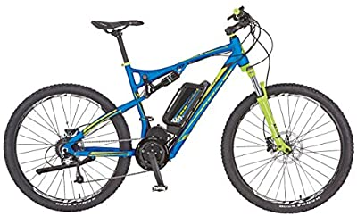 Prophete Herren Elektrofahrrad REX E-Bike Alu-Full Suspension MTB 650B 27.5 Zoll Bergsteiger 6.9, blau matt, 50, 51666-0111