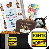 -Rente | Whiskey Geschenk mit Whiskey-Trüffel | Geschenk für die Rente