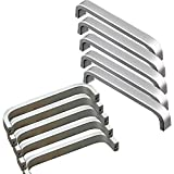 Qrity 10x Aluminiumlegierung Knöpfe Küche Schrank Schrank Schublade Türgriffe ziehen Griff (128MM) + Qrity Schrauben