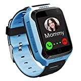 GPS Kinder Smartwatch Telefon - Kinder Smart Watch Intelligente Armbanduhr Armband Sport Uhr, Anruf Sprachnachricht SOS Taschenlampe Digitalkamera, Geschenk für Kinder Junge Mädchen Student