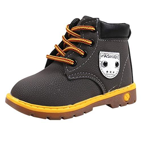 Sannysis Winter Warm Martin Schuhe Kinder Wildlederschuhe Oxford Schnürhalbschuhe Jungen Mädchen Verdickung und Baumwolle Weiche Sohle Freizeitschuhe