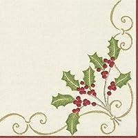 Caspari - Tovaglioli di carta Airlaid, motivo: natalizio, multicolore