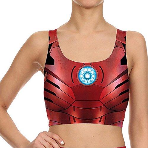 Leggings Femmes arrivée 3D Printed Golden Armor Cool Leggins Slim Ondulation Remise en Forme taille haute Pantalon élastique B03075 L