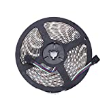 Fanshop Waterproof SMD 5050 RGB LED Strip Light Flexible LED Ribbon 5 Meters 300 LEDs + 24 Mini Key IR Controller + 12V 5A AC Adapter. Ideal For Gardens,Homes,Kitchen,Cars,Bar,DIY Party Decoration Lighting