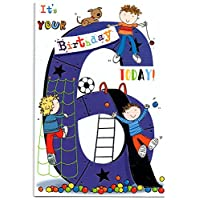 Birthday Card for Six (6) Year Old Boy - Free 1st Class Post (UK)