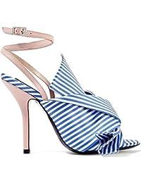 LJO Women es High Heel Rund Kopf Sommer Fashion Casual Bequem Ein Wort Schnalle Asakuchi Sandalen